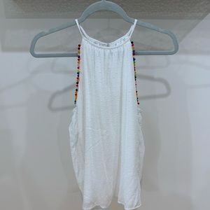 White Maurice's Tank Top Size Small